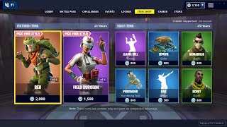 REX - TRICERA OPS Skins, LLAMA BELL Emote are BACK - 23 janvier Fortnite Daily Item Shop LIVE