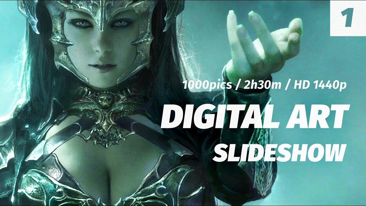 1. Digital Art Slideshow HD / 1000pics / 2h30m - YouTube