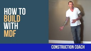 Watch video! There are many different types of build-ins - the Construction Coach teaches you how to build a large medium-density