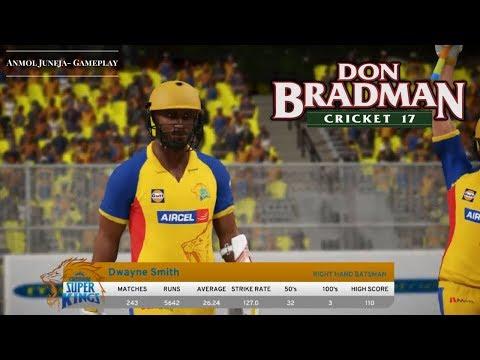 Chennai Super Kings vs Royal Challengers Bangalore // IPL - CSK vs RCB // Don Bradman Cricket 17