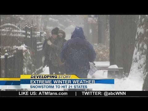 Extreme Winter Weather: Snowstorm to Hit 21 States