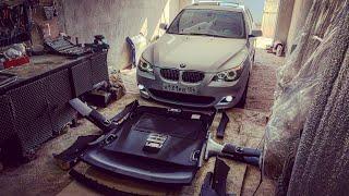 BMW E60 ТЮНИНГ ИНТЕРЬЕРА САЛОНА! Черный потолок.
