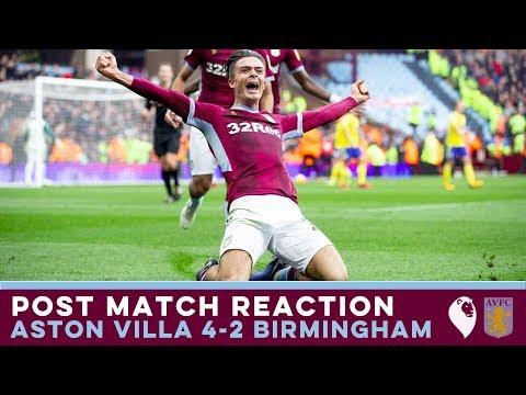 POST MATCH REACTION | Aston Villa 4-2 Birmingham City