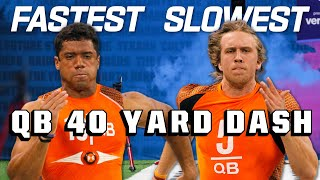 Slowest & Fastest QB 40-Yard Dash Times of the 2010s!