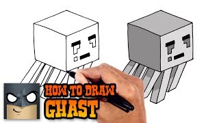 How to Draw Ghast | Minecraft