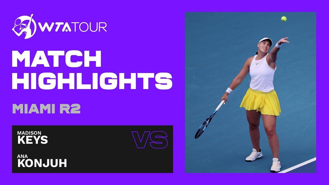 Madison Keys vs. Ana Konjuh | 2021 Miami Open Round 2 | WTA Match Highlights