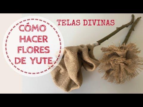 a296a26dd CÓMO HACER FLORES DE TELA DE YUTE - YouTube