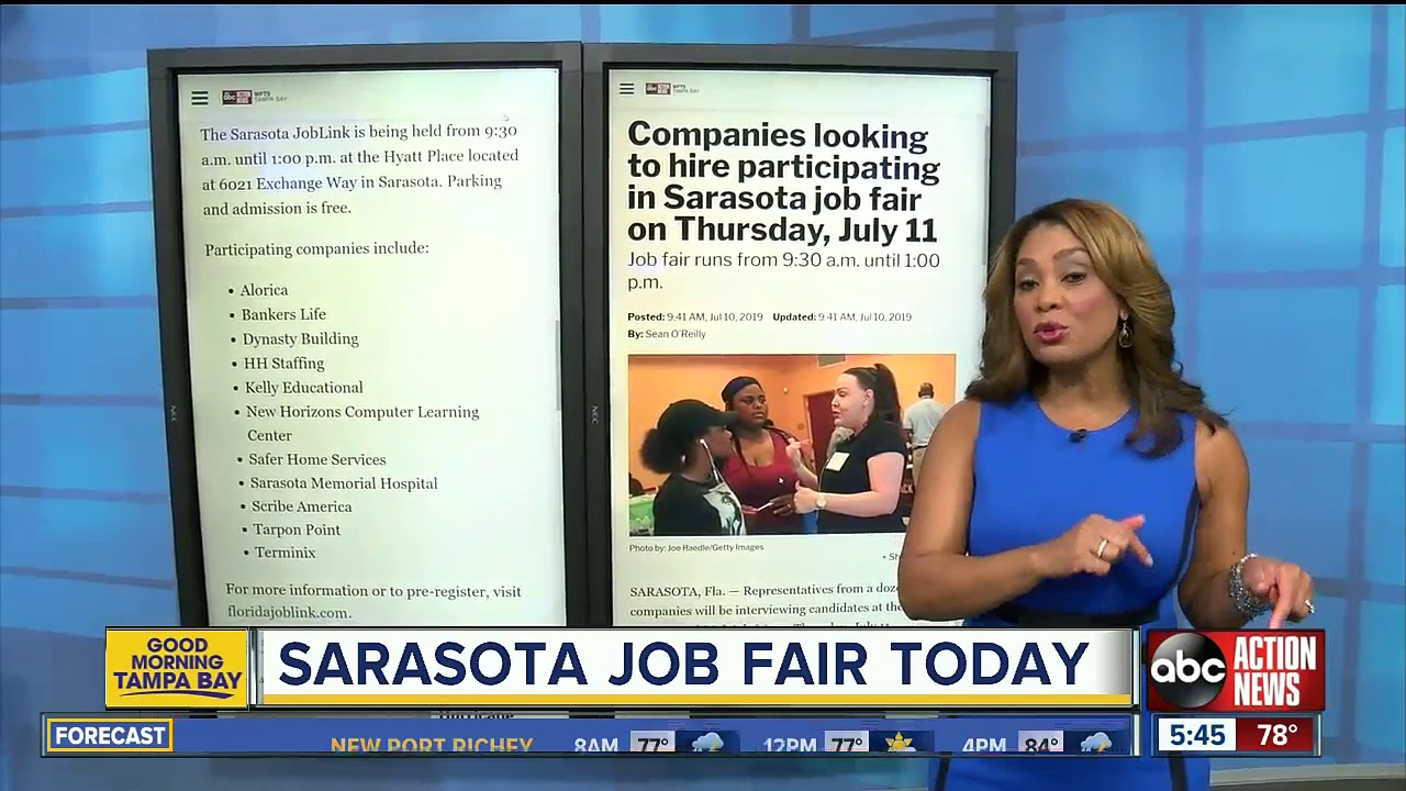 Companies looking to hire at Sarasota job fair on Thursday