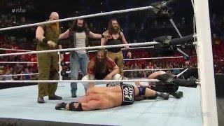 big show ryback demon kane vs the wyatt family raw february 15 2016