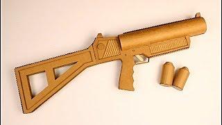 como hacer un lanza granadas de cartón (launcher grenade that sh00ts)