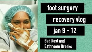 Bed Rest and Bathroom Breaks   Foot Surgery Recovery Vlog #1 [CC]