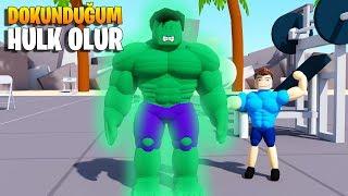 💪 I'm Making the Man I Touch Green Like the Hulk! 💪 | Lifting Simulator | Roblox English
