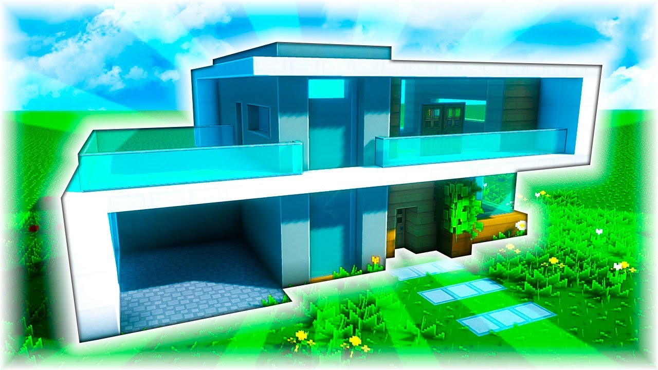 Casa moderna con garaje y terraza en minecraft for Casa moderna 1 8