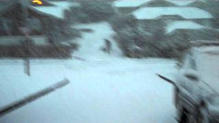 Rare snow in Wellington, NZ, August 14, 2011