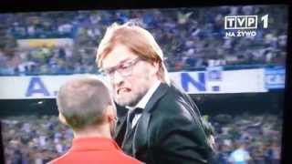 Jurgen Klopp EPIC Nervous Reaction Very Angry with the Referee After Goal 1080p HD Champions League