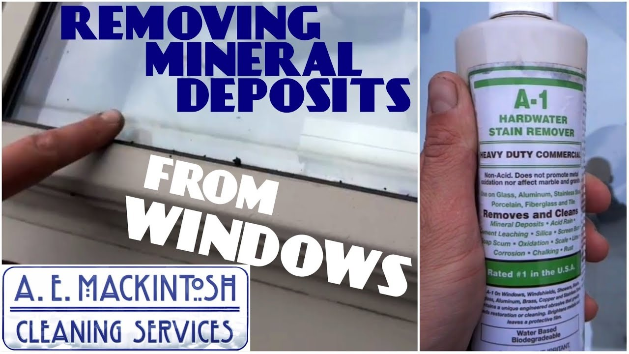 Remove Mineral Deposits from Glass With A-1 From Titan - YouTube