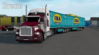 Trying Kenworth T800, Mercedes E63 AMG, Volvo Tandem, Scania with custom engine in ETS 2
