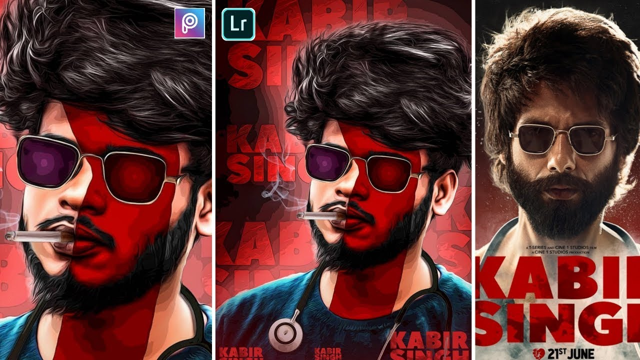 Kabir Singh Movie Poster Editing In Picsart Kabir Singh Photo