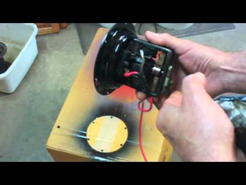 Model A Ford Sparton Horn repair Pt 2 YouTube