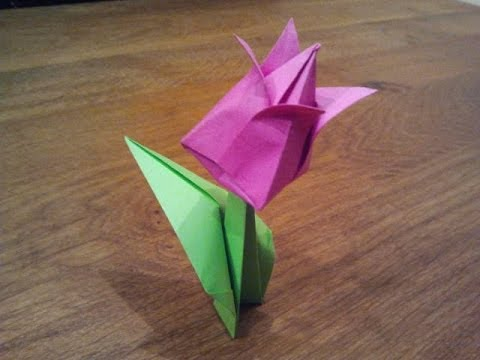 How To Make An Origami Tulip Flower Youtube