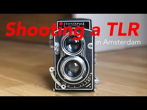 Shooting a Twin Lens Reflex Camera in Amsterdam