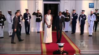 President Paul Kagame and His Daughter Ange Arrives at the White Hosue   8 5 2014