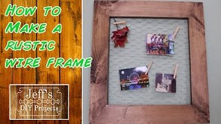 How to make a rustic wire frame - card holder