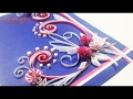 DIY Paper Quilling Cards Tutorial: How to make Paper Quilling Greeting Card Ideas