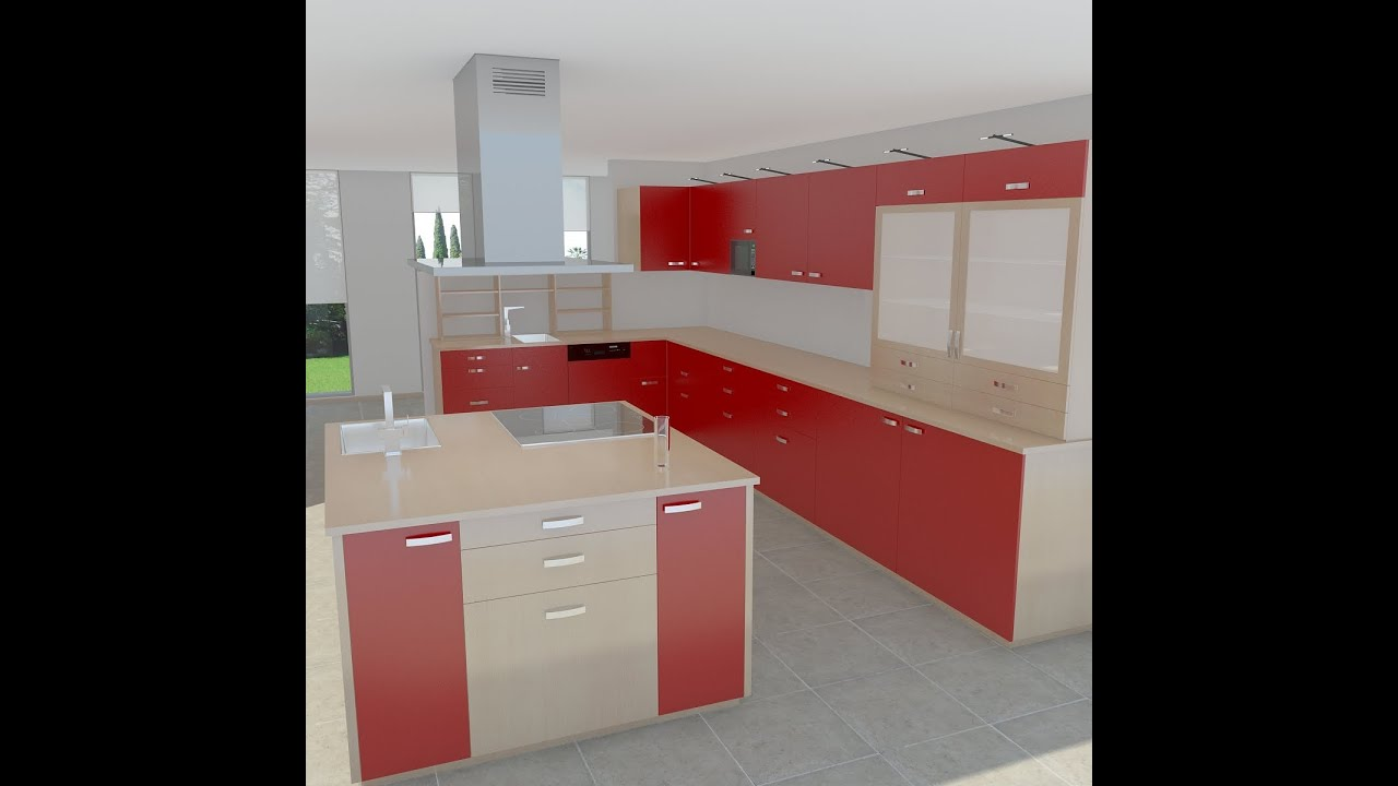 Modern Kitchen 3d Model kitchen modern 3d model - youtube
