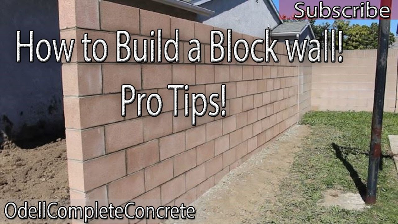 How to build a block wall diy 3 youtube how to build a block wall diy 3 solutioingenieria Images