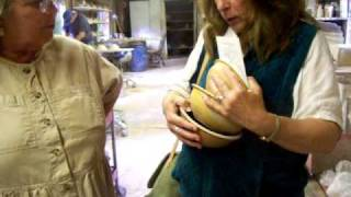Nancy Today: Cornwall Bridge Pottery 4 birdfeeder ( pottery 21) ASMR
