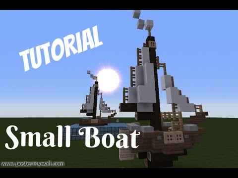 Minecraft: Lets Build/ Tutorial; Small Boat/ ship - YouTube