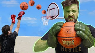 WEIRD GLOVE BASKETBALL SHOT CHALLENGE! *Boxing Gloves, Hulk Hands...*