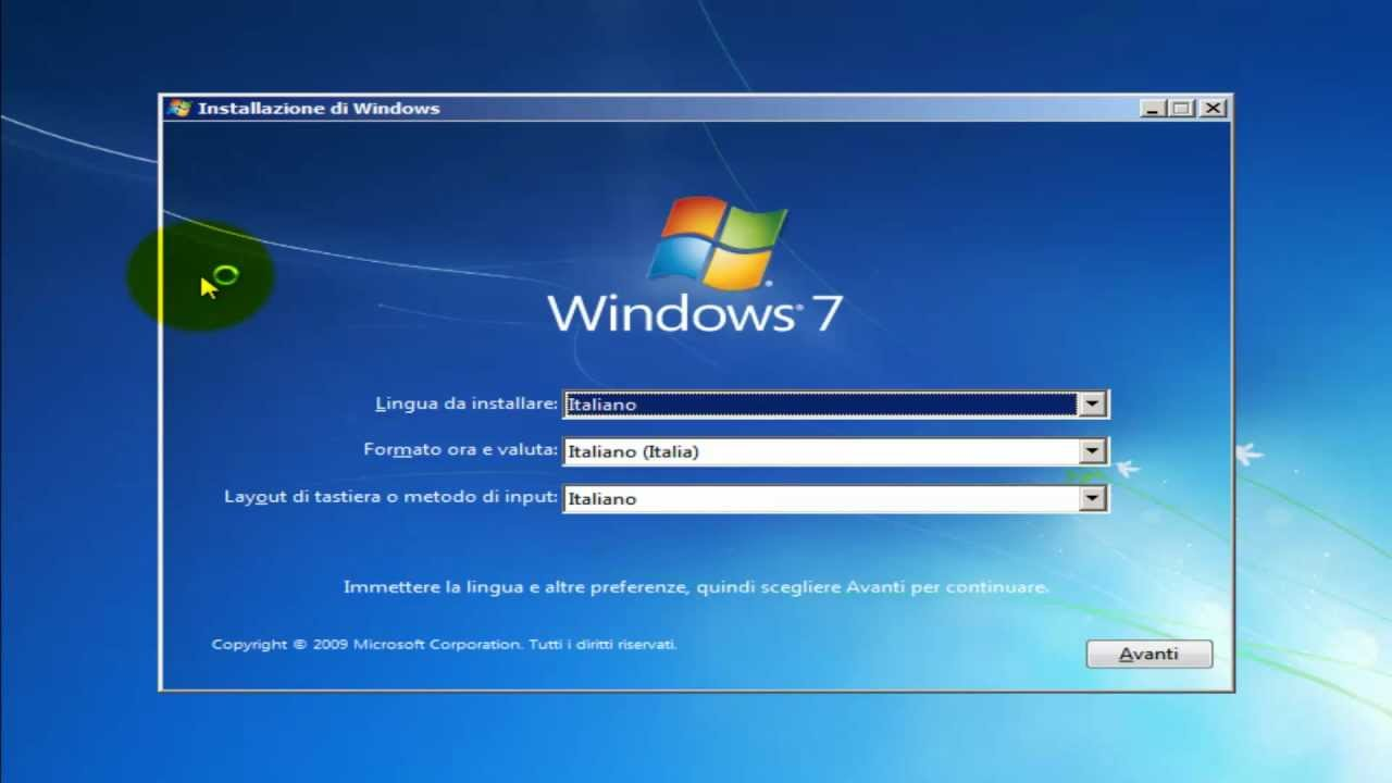 Come formattare un pc e installare windows vista ultimate x32 con.