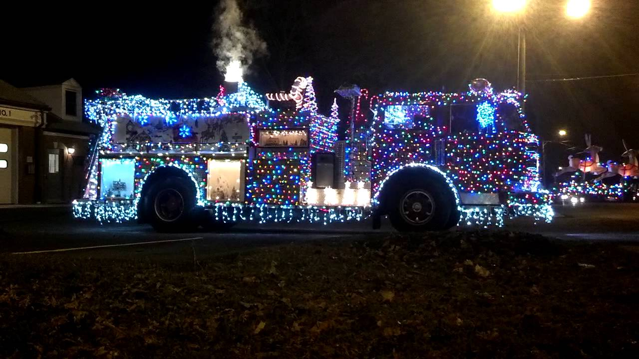Christmas Lights On Firetruck   Awesome!   YouTube Design Ideas