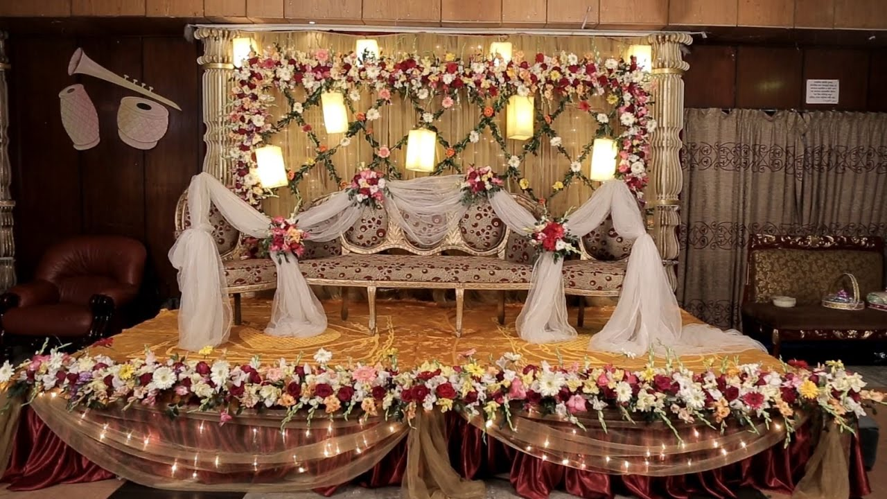 Awesome Wedding Stage Design In Bangladesh Hd Youtube