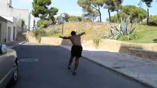 Roundoff Double Backflip on Concrete