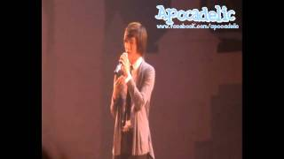 101107  ChangHyun Solo  @ Thanks Party Only You & SHU-I Concert.wmv