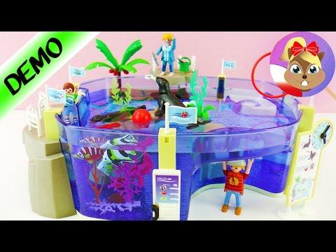 Playmobil Wielkie Oceanarium - Akwarium z fokami i rybami - otwarcie i test na żywo