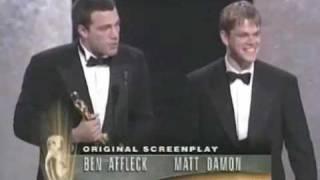 Ben Affleck and Matt Damon winning an Oscar®