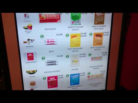 McDonald's Automated touch-screen cashier in New York City