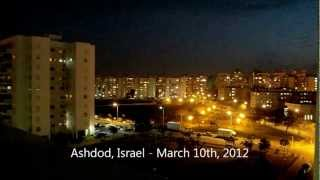 Grad Missile Attack On Ashdod Israel From Gaza