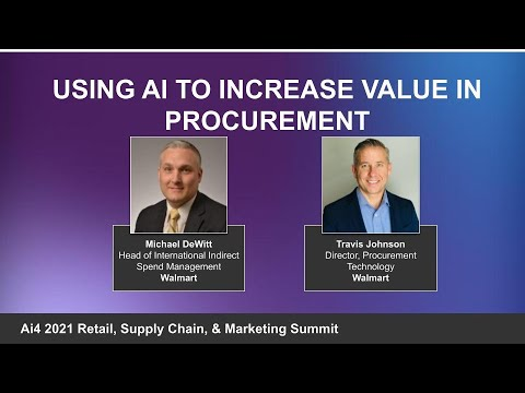 Using AI to Increase Value in Procurement