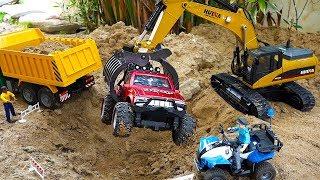 포크레인 중장비 자동차 장난감 덤프 트럭 놀이 Excavator Car Toy with Dump Truck