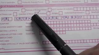 Account Opening Form Fill up Of State Bank Of India (SBI) || Simplified in Hindi
