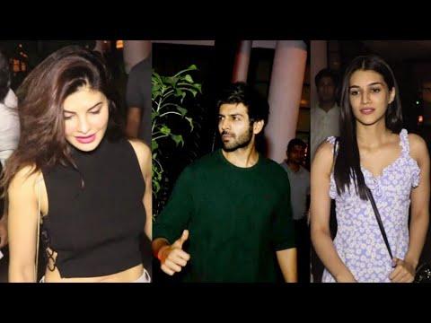 Jacqueline Fernandez, Kartik Aryan & Kriti Sanon Spotted at Soho Restaurant Last Night