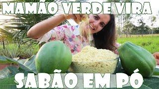 SABÃO EM PÓ DE MAMÃO VERDE – ECOLOGICAMENTE CORRETO