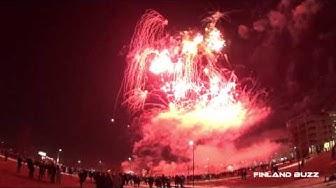 Kiinalainen uusivuosi 2017 ilotulitus Töölönlahdella Helsinki - Chinese New Year Fireworks