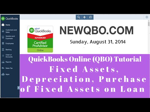 QuickBooks Online QBO: Fixed Assets, Depreciation, Purchase
