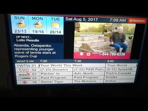 Rogers TV Listings Channel - Channel 5